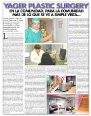 REVISTAS Y PUBLICACIONES: Dr. Yager featured as Plastic Surgery Specialist