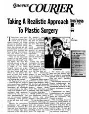 REVISTAS Y PUBLICACIONES: Dr. Yager's approach to plastic surgery