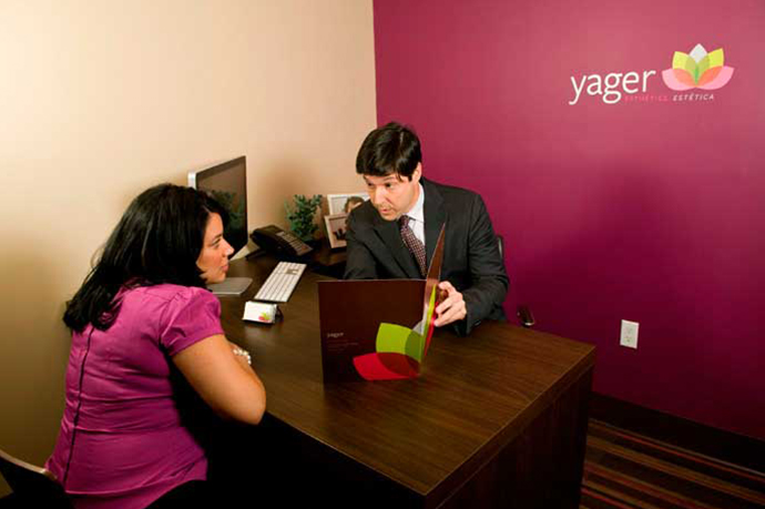 Yager Esthetics - consultation with patient