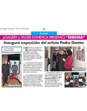 """MAGAZINES & PUBLICATIONS: Presentaron al Artista Dominicano Pedro Gastón y su exposición """"ENIGMA"""""""