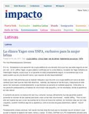 Magazines & Publications: Impacto Latin News – Nota sobre el Lanzamiento de Yspa