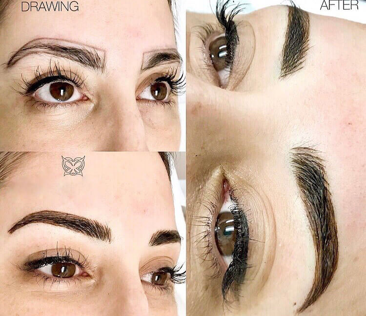 Microblading another woman patient before and after photo