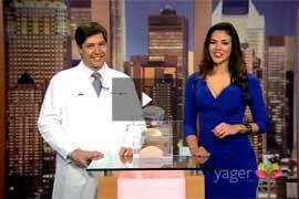 Television Appearances: Video - Despierta América – El Dr. Yager habla sobre los diferentes implantes de senos.