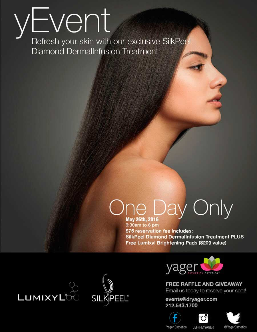 yEvent - Refresh your skin with our exclusive SilkPeel Diamond Dermallnfusion Treatment