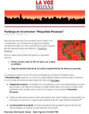 "Magazines & Publications: LA VOZ HISPANA - Participa en el certamen ""Pequeños Picassos"""