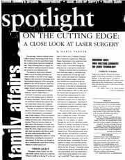 Magazines & Publications: Dr. Yager speaks about Laser Technology